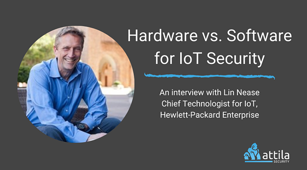 Hardware vs. Software for IoT Security
